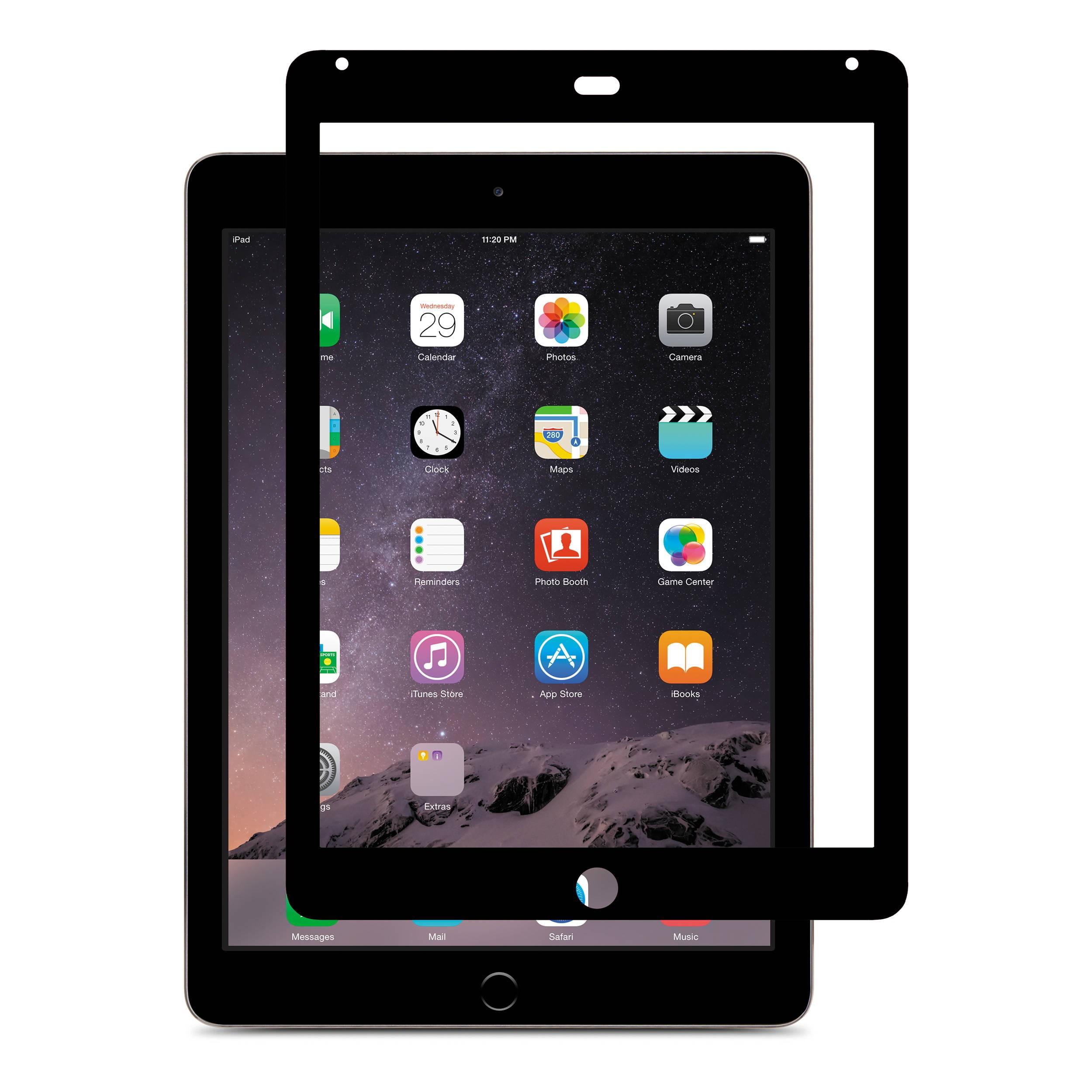 finest selection aeabb 5728a Moshi iVisor XT Clear Screen Guard for iPad Air/Air 2 - Black - The ...
