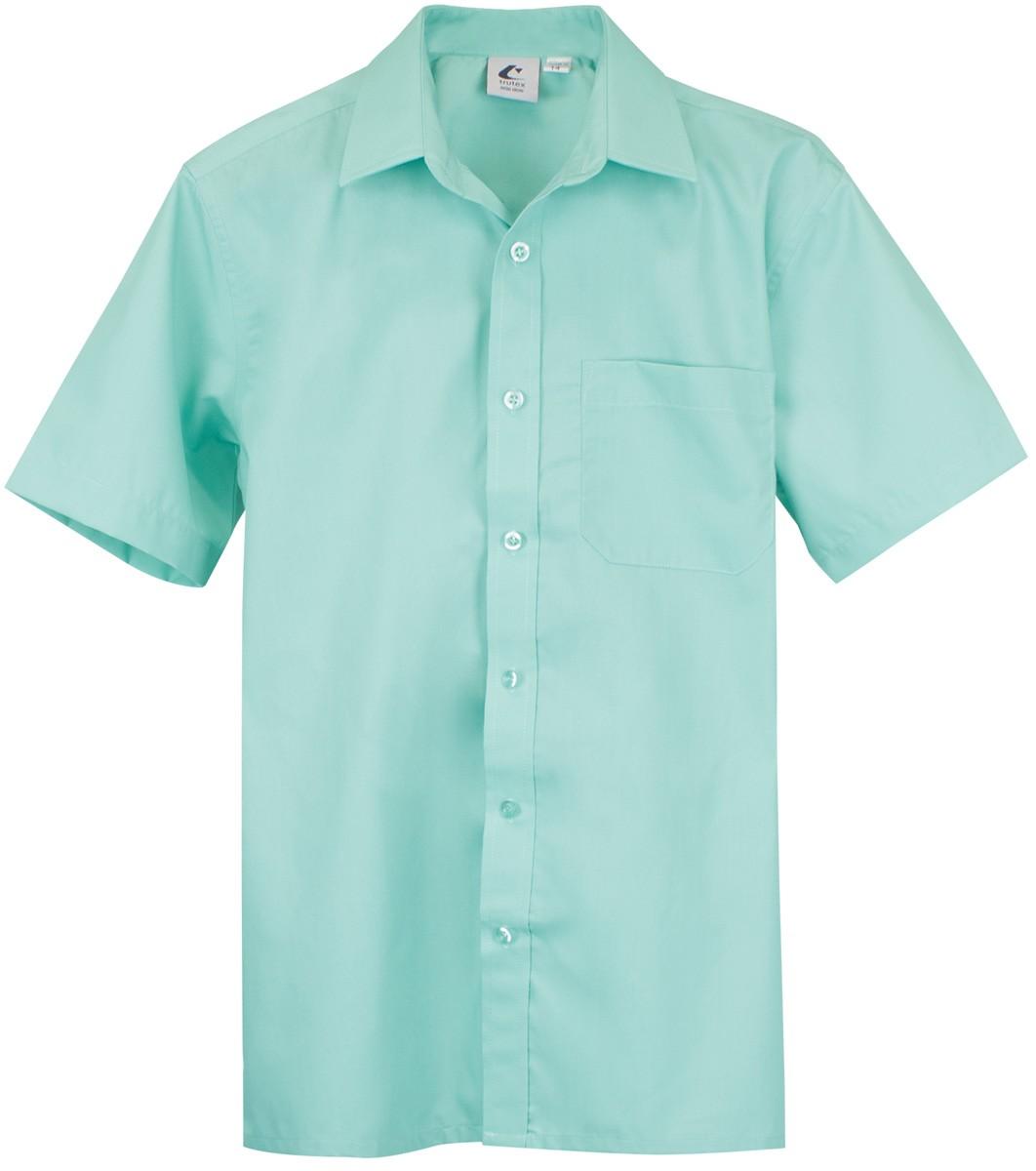 bcd5383ed61 Boys Shirt Short Sleeve Green - The School Locker