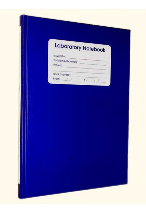 Laboratory Notebook 128pg Grid Blue