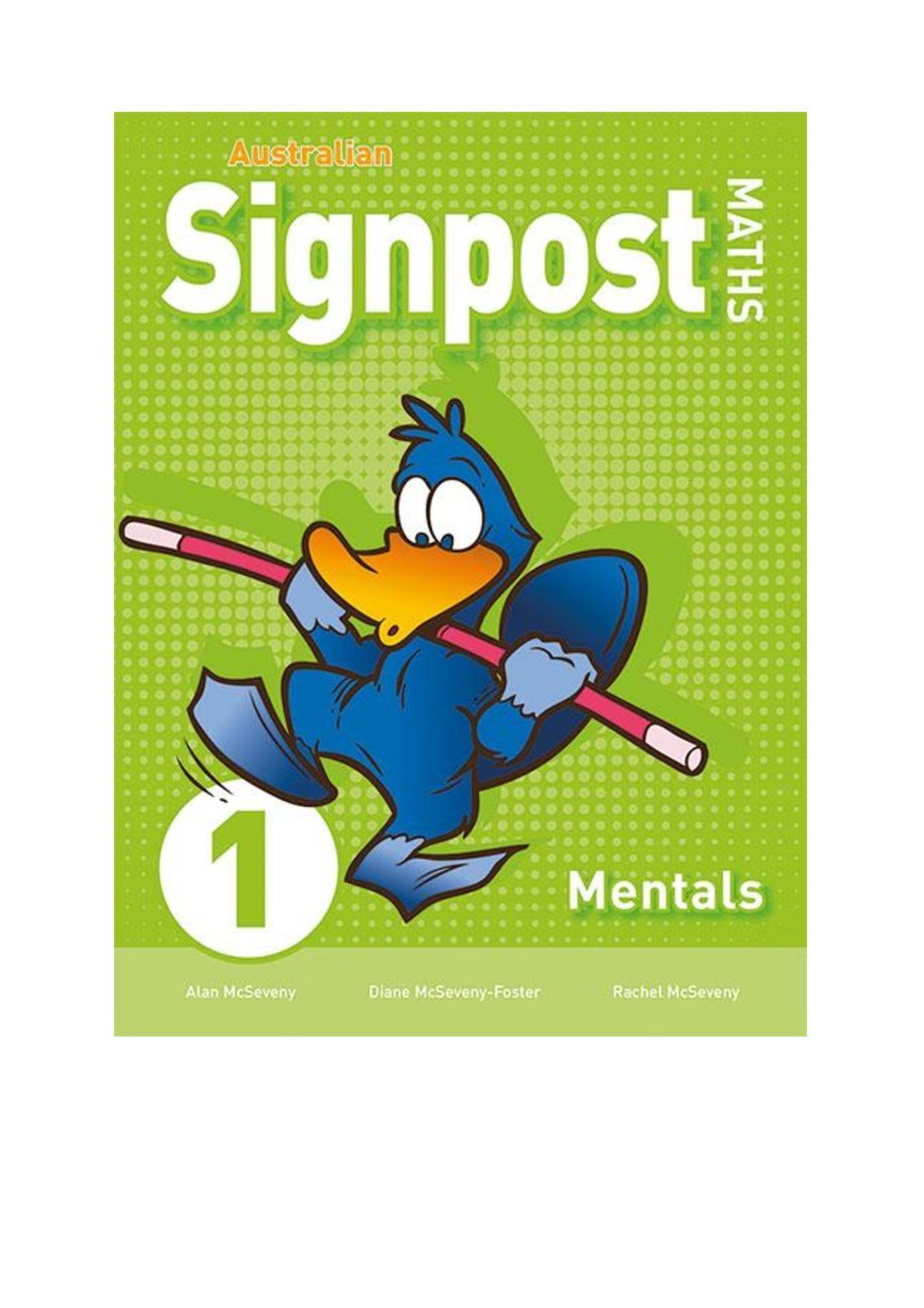 australian signpost maths  3rd ed  mentals bk 1